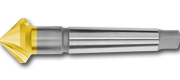 Svasatore 3T/90° HSS + TIN CONO MORSE
