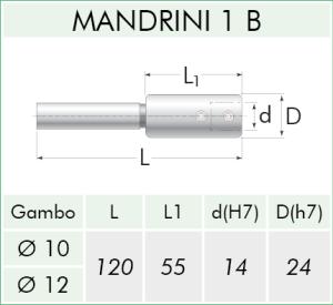 TECHNICAL SHEET MANDRINI 1/B